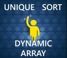 Dynamic Array - Unique Sort